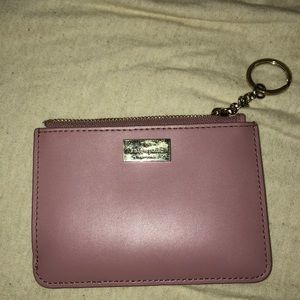Mauve Kate Spade keychain wallet